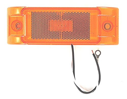"Super Light - Amber Or Red 6"" X 2 1/16"" Rectangular Clearance / Marker Led Light Kit With Power Plug. For Trucks, Trailers & Rv'S"