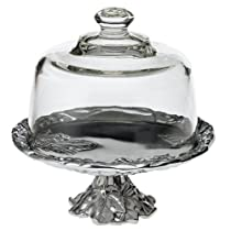8-Inch Arthur Court Grape Footed Plate with Glass Dome
