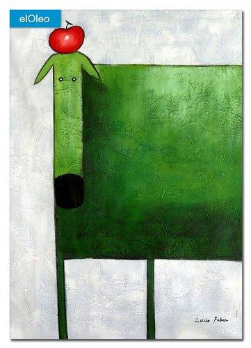 elOleo Pop Art – Der lustige grüne Hund 110×80 Gemälde auf Leinwand handgemalt 83509A jetzt bestellen