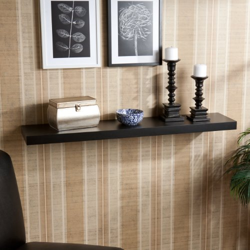 "Chicago Floating Shelf - Black (Black) (2""H x 48""W x 10""D)"