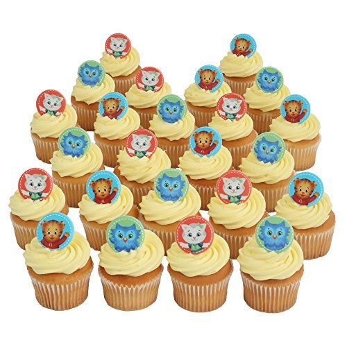 Daniel Tiger Officially Licensed 24 Cupcake Topper Rings