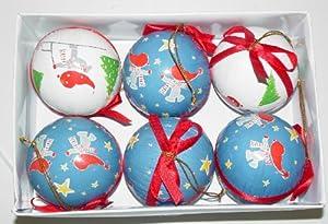6 PIECE CHRISTMAS XMAS HOLIDAY ORNAMENTS BOX SET BY IKEA