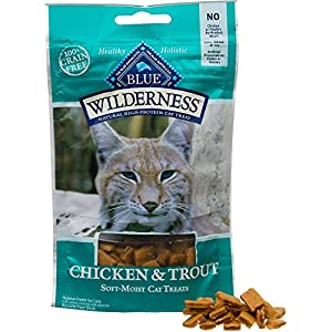 Blue Buffalo Wilderness Soft-Moist Grain-Free Cat Treats Variety Pack - 4 Flavors (Chicken & Duck, Chicken & Trout, Chicken & Salmon, and Chicken & Turkey) - 2 Oz Each (4 Total Pouches)