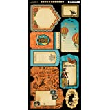 Graphic 45 Steampunk Spells Cardstock Die Cut Tags & Pockets