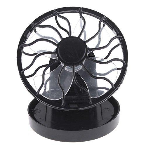 Kingzer Clip-On Solar Cell Fan Sun Power Energy-Saving Panel Portable Cooling Cooler