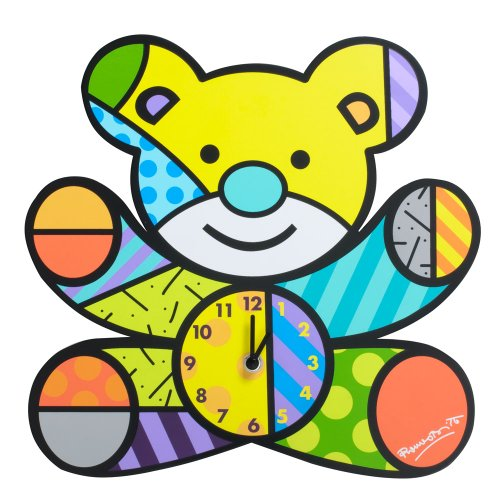 "Gund Baby Britto Bebe From Enesco Wall Clock Clock, Bear, 12"" (Discontinued by Manufacturer) - 1"