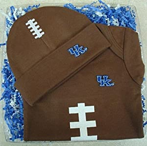 Kentucky Wildcats Baby Football Onesie and Football Hat Gift Set by Future Tailgater