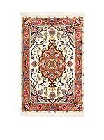 Eden Carpets Alfombra Tabriz Beige/Multicolor 91 x 60 cm