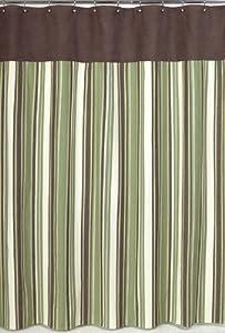 Green and brown ethan kids bathroom fabric bath shower curtain amazon