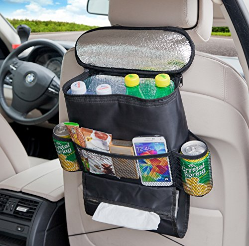 Deler Insulated Auto Seat Back Organizers Bottle Drinks