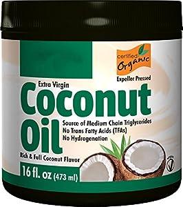 Puritan's Pride Organic Extra Virgin Coconut Oil 16 oz.