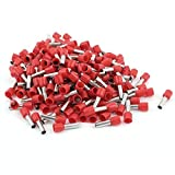 200 Pcs 6mm2 Crimp Cord End Terminal Bootlace Ferrule Connector Red