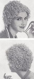 Vintage Knitting PATTERN to make - Wig Hat Yarn Hair Costume or Hair Loss / Chemo. NOT a finished item. This is a pattern and/or instructions to make the item only.