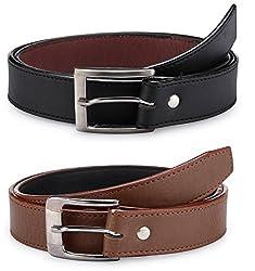 Rico Sordi Mens combo of 2 Leather Belt(RSD705_BB)