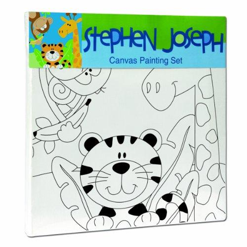 Stephen Joseph Zoo Craft Canvas Set