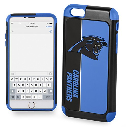 Forever Collectibles Dual Hybrid BOLD Series Case for iPhone 6/6S - NFL Carolina Panthers at Steeler Mania