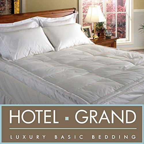 Discover Bargain Emperors Grand Luxurious Downtop Baffle Box 5-inch Gusset Featherbed Mattress Pillo...
