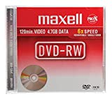 Maxell - 5 x DVD-RW - 4.7 GB ( 120min ) 2x - jewel case - storage media