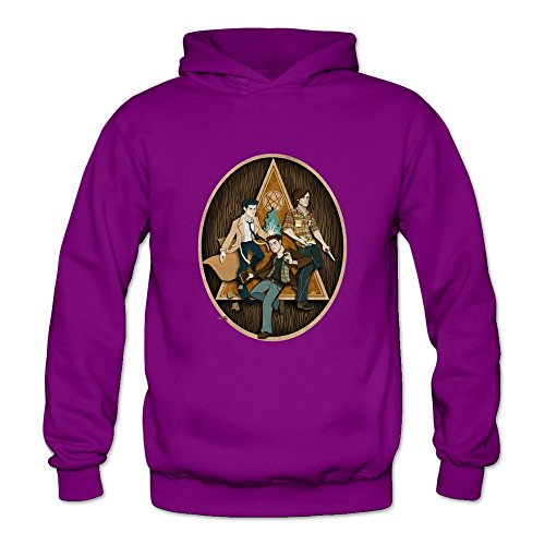 Crystal Men's Supernatural Dean Sam Winchester Long Sleeve T Shirt Purple US Size S (Sam And Dean Winchester Jacket compare prices)