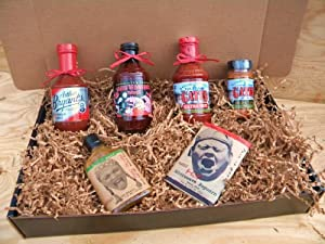 Kansas City Barbecue Sauce Hot Spicy Kc Combo Pack Deluxe Gourmet Box Set from Arthur Bryants, Gates, & Oklahoma Joes Cowtown