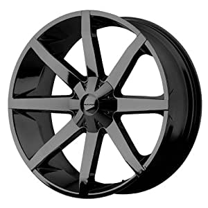 "KMC Wheels KM651 Slide Gloss Black Wheel With Clearcoat (22x9.5""/5x114.3, 127mm, +38mm offset)"