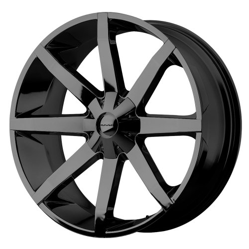 KMC Wheels KM651 Slide Gloss Black Wheel With Clearcoat (22x9.5
