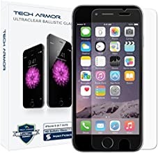 "Tech Armor iPhone 6 & iPhone 6S (4.7"") Ballistic Glass Screen Protector - Protect Your Screen from Drops - 99.99% Clarity and Touch Accuracy"