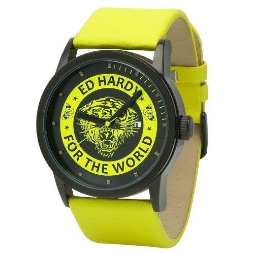 Ed Hardy Women's PK-YW Punked Yellow Watch