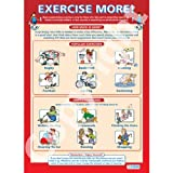 Exercise More PE Educational Wall ChartPoster in laminated paper A1 850mm x 594mm