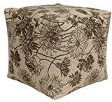 Codson Park 81145 Indoor/Outdoor Pouf, Maystone Java, 18-Inch