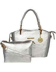 Meow Wings Women's Sling Bag In Bag Rough Silver Handbag