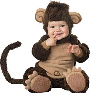 InCharacter Costumes Baby's Lil' Monkey Costume, Brown, X-Small