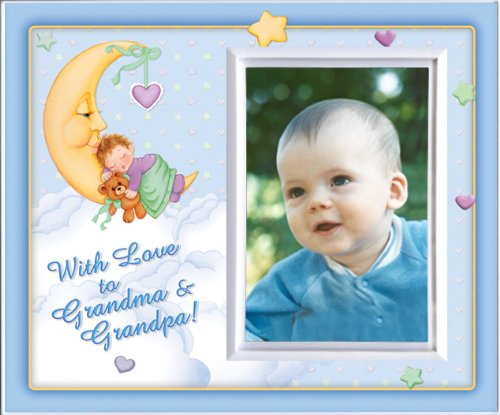 With Love to Grandma & Grandpa -Boy (MoonBaby) - Picture Frame Gift - 1
