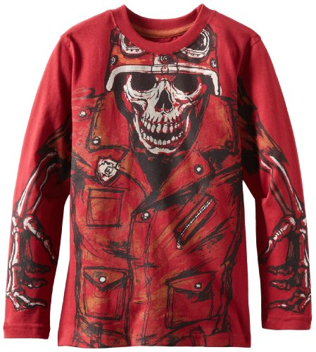 Industry 9 Boys 8-20 Biker Skull Tee, Red, Large