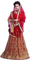 Ustaad Fashion Heavy Embroidered Heavy Lehenga Choli -Red