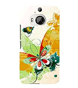 Butterfly Art 3D Hard Polycarbonate Designer Back Case Cover for HTC One M9+ :: HTC One M9 Plus