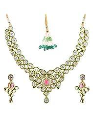 Bharat Sales Style Diva Multi Alloy Necklace Set For Women - B00YPASZ6C