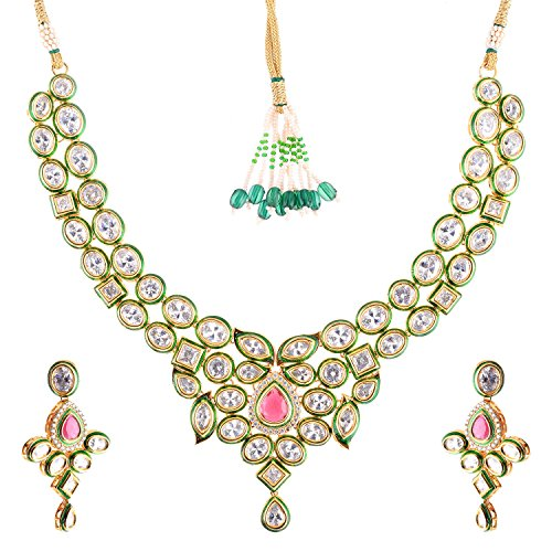 Bharat Sales Style Diva Multi Alloy Necklace Set For Women - B00YPASZ6C
