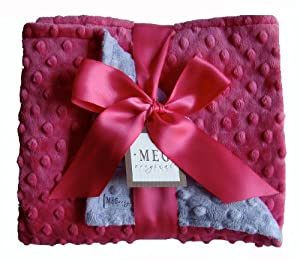 Meg Original Hot Pink & Lavender Minky Dot Blanket