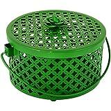 PAISLEYS Bella Metal Decorative Gift Basket (17 Cm X 17 Cm X 10 Cm, Green)