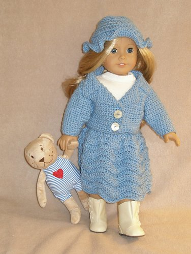 Betty Blue Crocheting Pattern for 18 inch dolls