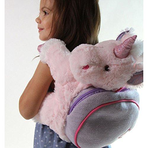 Snuggle-Stuffs-Girls-Plush-Pink-Lucky-Unicorn-Backpack-15