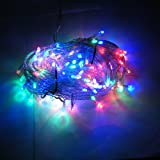 100 LED 12M Mixed Colors String Fairy Lights On Clear Cable with 8 Light Effects, Ideal for Christmas, Xmas, Party,Wedding,ETC