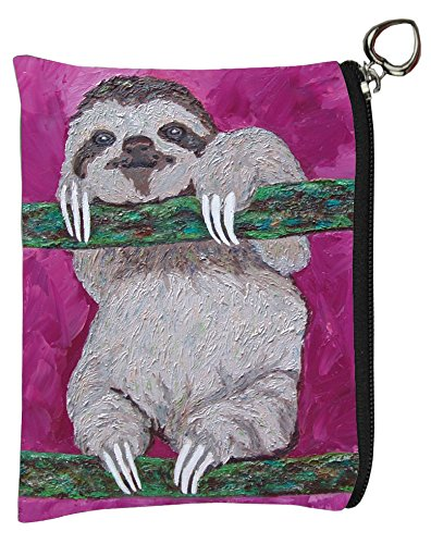 Sloth Change Purse , Sloth Coin Purse - From My Original Painting