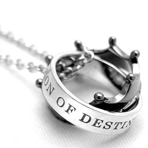 [クローストゥーミー] Close to me ネックレス ブルーダイヤモンド THE PERSON OF DESTINY クラウン シルバー ブラック SN13-101