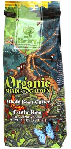 Shade Grown Whole Bean Organic Coffee