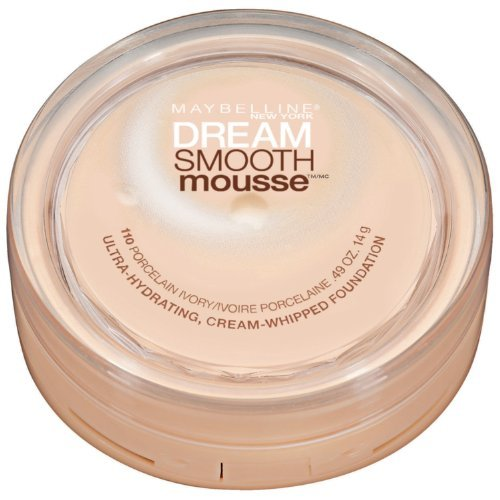 Maybelline New York Dream Smooth Mousse Foundation, Porcelain Ivory, 0.49 Ounce front-194821