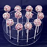 Round Cake Pop Stand 22cm Diameter 16 holes 5cm approx apart, 6.5cm High