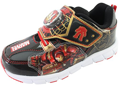Marvel Avengers Hulk Buster Boys Light Up Sneakers Shoes