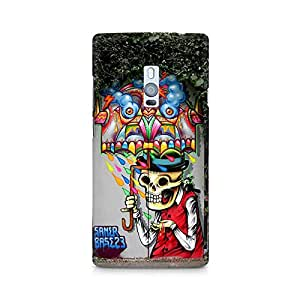 Mobicture Skull Premium Printed Case For OnePlus Two